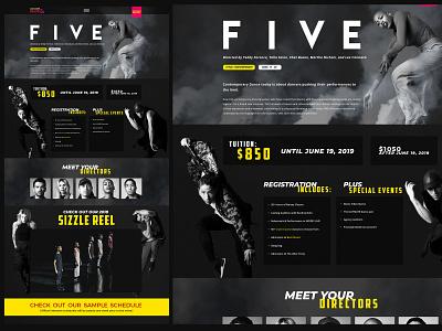 DancerPalooza - FIVE event branding design web design