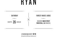 Wedding Invite Info