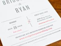 Finished wedding invitation