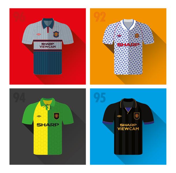low priced 7e56e 364e1 Manchester United 1990's Away Shirts by Dan Pinn on Dribbble