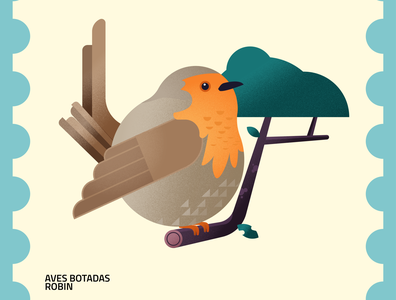 Aves Botadas flatdesign green colors illustration flat vector