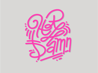 Hot Damn! illustration fonts hand drawn type typography hot damn