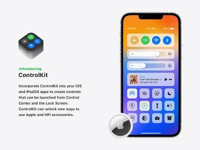 ControlKit Concept apple wwdc ipados15 uidesign uxui ios15 ipados ios appleconcept