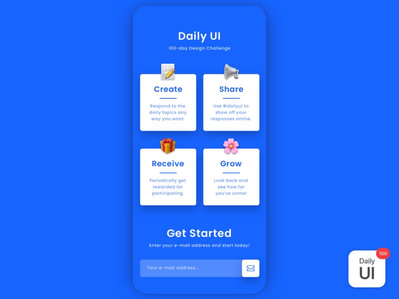 100 Daily UI landingpage webpage day100 dailyui dailyuichallenge