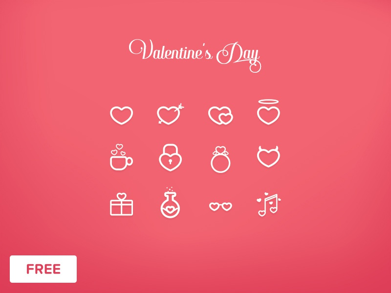 Icon Set - Day 55 #dailyui saint heart love day valentine vector ui daily set icon
