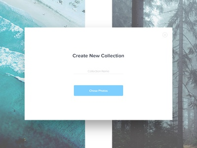 Create New - Day 90 #dailyui modal photos ux ui dailyui add new create