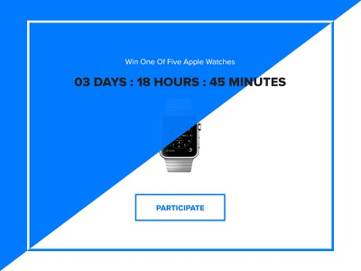 Giveaway - Day 97 #dailyui button watch apple timer win interface minimal widget ux ui dailyui giveaway