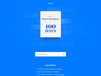 Daily Ui Landing Page - Day 100 #dailyui clean minimal simple days 100 finish page landing ux ui dailyui