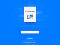 Daily Ui Landing Page - Day 100 #dailyui