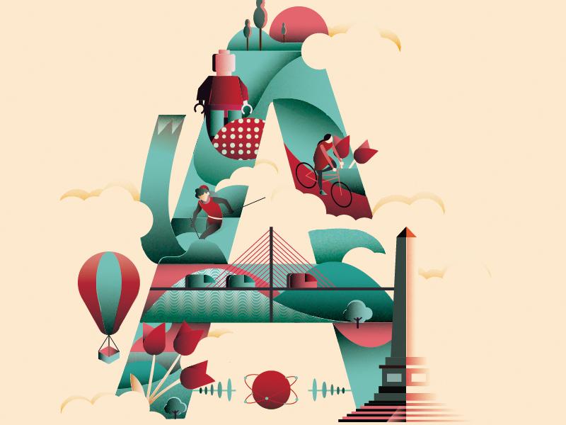 A illustrator photoshop,adobe adobe illustration, city design, font , typography lettering,