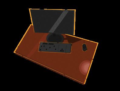 PC Desk Illustration