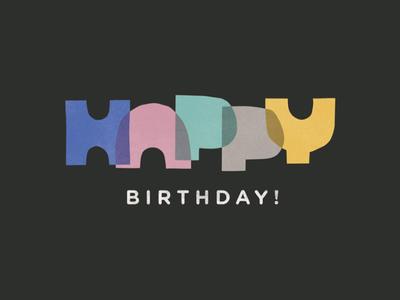 Birthday Card construction paper birthday card