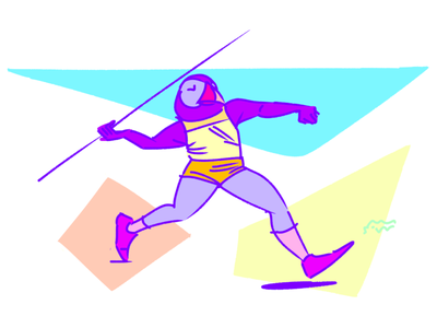 Witness the fitness puffin sports athlete track and field track stars javelin
