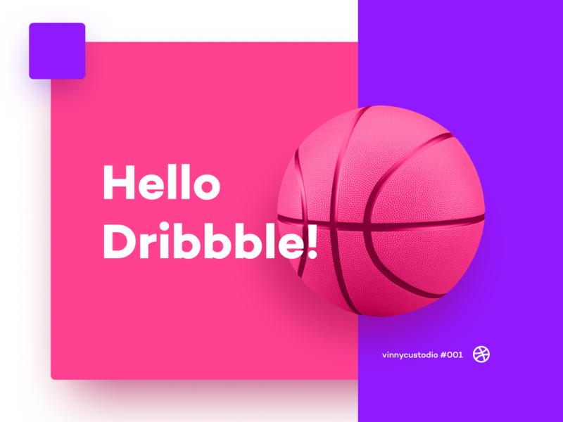 Hello Dribbble illustration app branding logofolio app ux-ui ui pack logo first firstpost hello