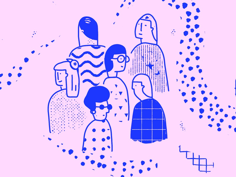 the crowd event gang crowd illustration