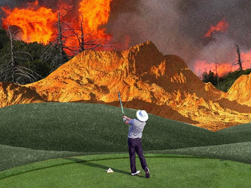 holiday collage collageart collages vacation golf burn mountains fire collage