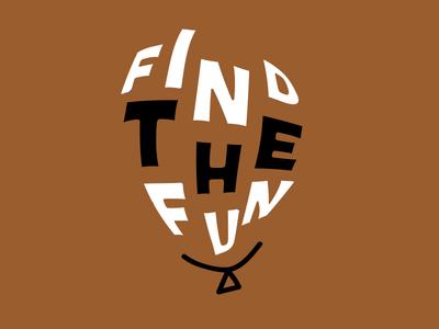 Typographic Stickers warped typography type balloon fun