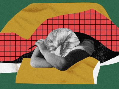 Sleep-In Beauty illustration collage