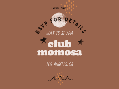 fake event poster rsvp momosa letterings event