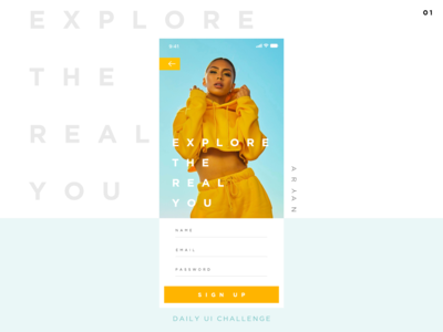 Sign Up Page #DailyUI 1