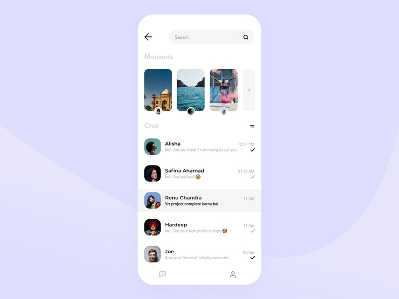 Clean Chat App by Aryan on Dribbble