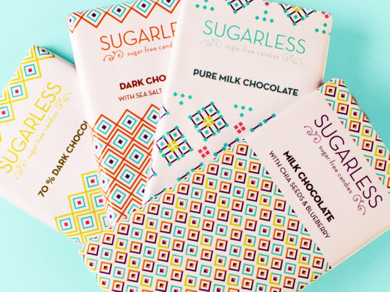 Sugarless sugarfree candy diabetes packaging patterns healthy chocolate