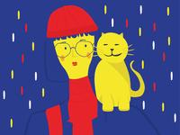 raining cat