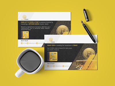 Bitcoin Postcard 2021 atm bitcoin identity vector branding design postcard