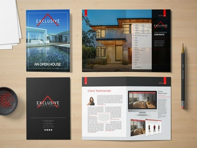 Real Estate Open House Brochure design