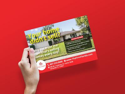 Real Estate Postcard Design real estate agency real estate agent real estate illustration logo brochure design branding tri-fold design flyer brochure bi-fold