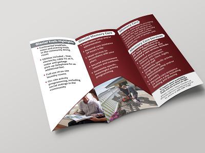 Tri Fold Brochure vector illustration brochure design logo branding tri-fold design brochure flyer bi-fold