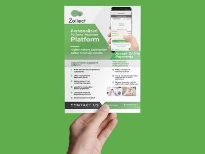 Modern Flyer Design payment method platform payment vector logo branding design brochure flyer bi-fold