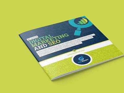 SEO Brochure Design vector illustration logo brochure design branding tri-fold flyer design brochure bi-fold
