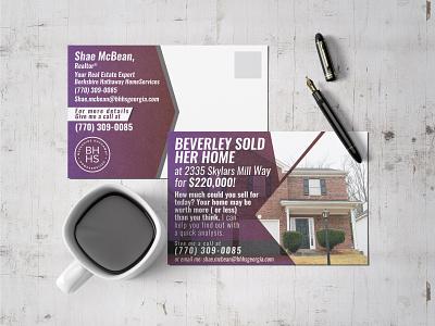 Real Estate Postcard Design postcard project boker realestate typography postcard logo vector branding design