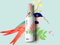 Bird's nest branding drinks illustration design3