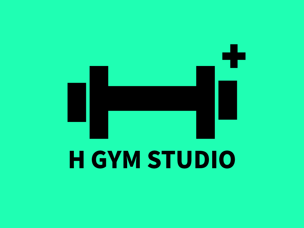 H GYM STUDIO Logo design graphic design freelancer gym logo logo design gym branding graphic design logo