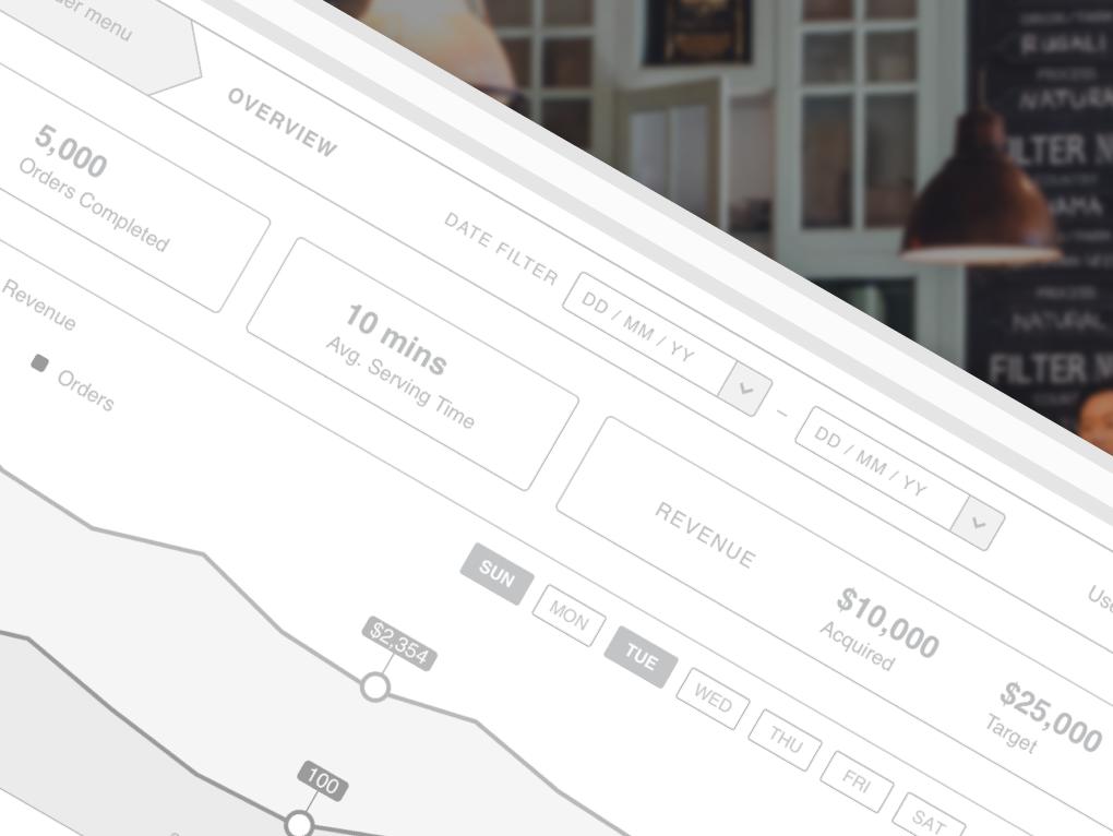 Restaurant Stats & Delivery Dashboard design concept graph overview statistics restaurant delivery user center design user experience ux wireframe dashboard