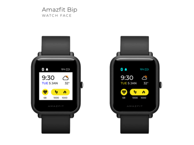 Amazfit Bip Smart Watch UX & UI