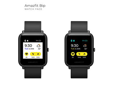 Amazfit Bip Smart Watch UX & UI user experience user inteface watch ui watch face smart watch wearable