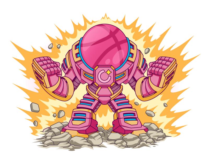 Halo-buster illustrator design art hello dribbble robot first shot colors character art design vector illustration