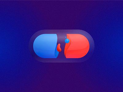 PILL transparency pill illustration contrast branding