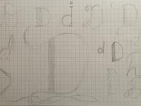 Letter D - Sketches