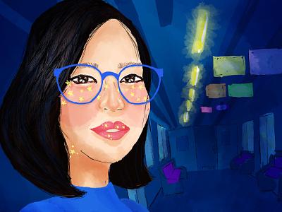 kana metro mexico wacom brush colourful woman photoshop adobe digital illustration illustration