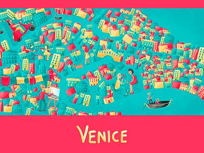 venice venice map vector colourful photoshop wacom adobe digital illustration illustration
