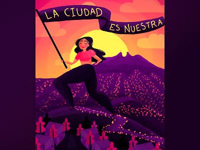 la ciudad feminist feminism monterrey brush colourful woman photoshop wacom adobe digital illustration illustration