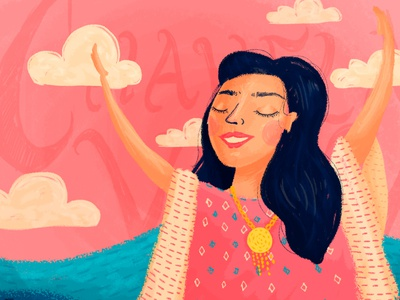Chavela mexico colourful brush woman photoshop wacom adobe digital illustration illustration