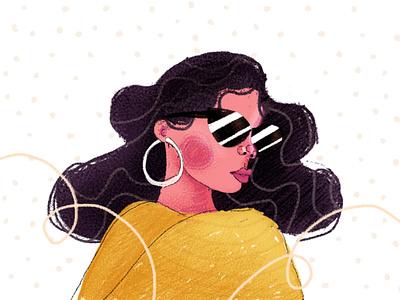ga as a mago colourful woman photoshop wacom digital illustration illustration
