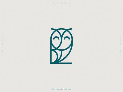 Athena Lenormand - Brand Identity logodesign logos brand identity branding design brand identity design minimalist logo minimal owl branding and identity branding logo logomark