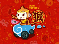 Happy new year of monkey