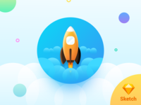 Spaceship for Sketch (freebie)